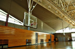 High school gym
