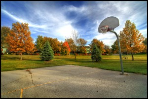 autumn-basketball-trees-ground-sky